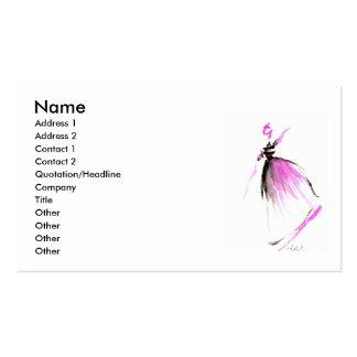 Pink dancer Business card