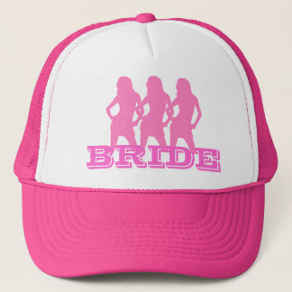 Pink dancing girls, bride trucker hat