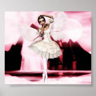 Pink Dancing Moon Print