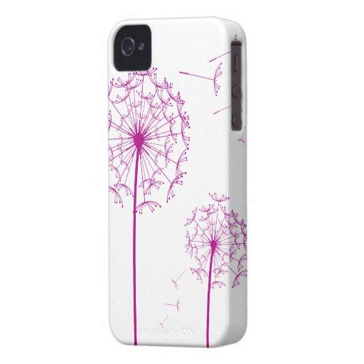 pink dandelion Case-Mate Case iPhone 4 Case-Mate Cases