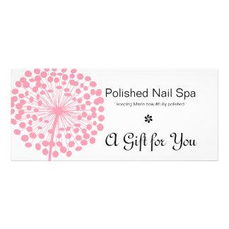 Pink Dandelion Flower Gift Certificate 2 Customized Rack Card