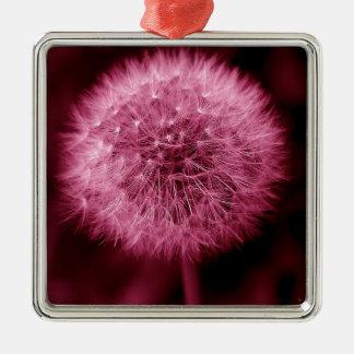 Pink Dandelion Christmas Ornaments