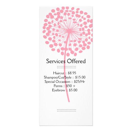 Pink Dandelion Services Rack Card