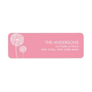 Pink Dandelions Label