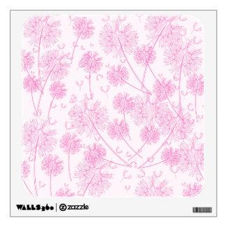 Pink Dandelions Wall Sticker