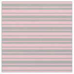 [ Thumbnail: Pink & Dark Gray Colored Lines/Stripes Pattern Fabric ]