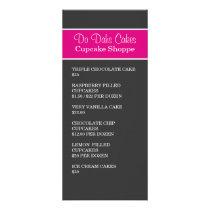 Pink & Dark Gray Dessert menu Rack Cards