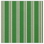[ Thumbnail: Pink & Dark Green Stripes Fabric ]