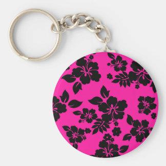 Pink Dark Hawaiian Keychain