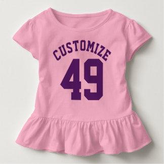 Pink & Dark Purple Toddler   Sports Jersey Design T-shirt
