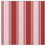 [ Thumbnail: Pink & Dark Red Colored Lined/Striped Pattern Fabric ]