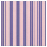 [ Thumbnail: Pink & Dark Slate Blue Lined Pattern Fabric ]