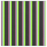 [ Thumbnail: Pink, Dark Slate Gray, Mint Cream, Green & Black Fabric ]