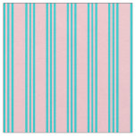 [ Thumbnail: Pink & Dark Turquoise Colored Pattern Fabric ]