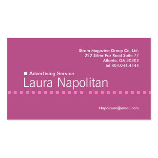 Pink Dash Business Card 6