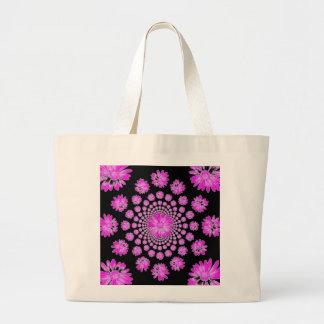 Pink Dasies Large Tote Bag