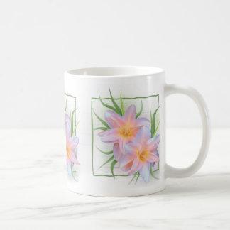Pink Day Lilies Classic White Coffee Mug