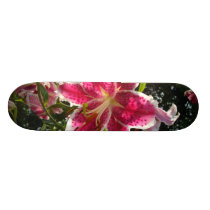 Pink Day lilies Skateboard