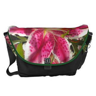 Pink Day Lily Courier Bag