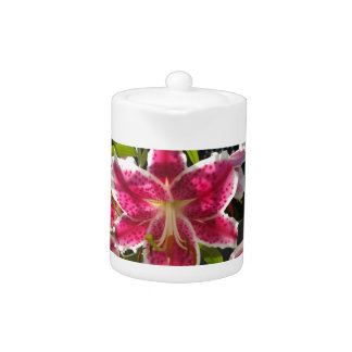 Pink Day Lily Teapot