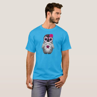 Pink Day of the Dead Baby Penguin T-Shirt