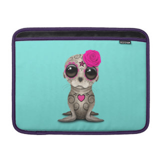 Pink Day of the Dead Baby Sea Lion MacBook Air Sleeve