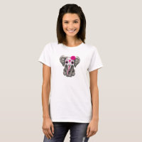 Pink Day of the Dead Elephant T-Shirt