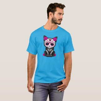 Pink Day of the Dead Kitten T-Shirt