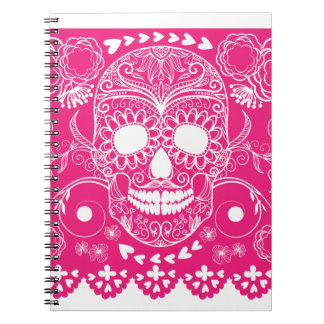 Pink Day of the Dead Note Books