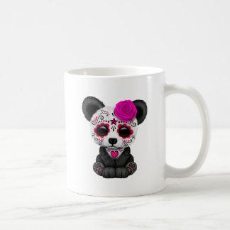 Pink Day of the Dead Panda Cub Coffee Mug