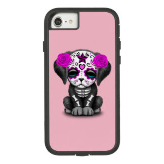 Pink Day of the Dead Puppy Dog Case-Mate Tough Extreme iPhone 8/7 Case