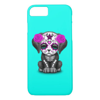 Pink Day of the Dead Puppy Dog iPhone 8/7 Case