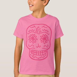 Pink Day of the Dead Skull T-Shirt