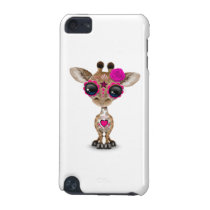 Pink Day of the Dead Sugar Skull Baby Giraffe iPod Touch 5G Cover