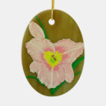 Pink Daylily Painting Ornament