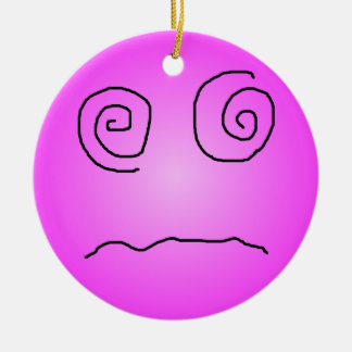 Pink Dazed and Confused Smiley Ornaments