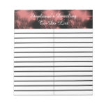 Pink Dazzle Fireworks To-Do/Shopping List Pad Memo Notepads