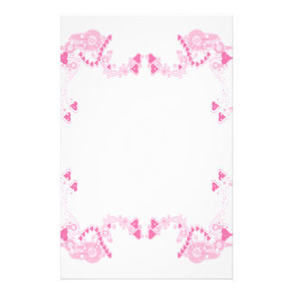 Pink Deco Hearts Stationary Stationery