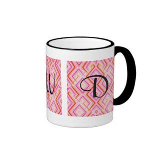 Pink Deco Monogram Mug