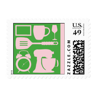 Pink Décor Postage Stamp