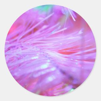 Pink decorations classic round sticker