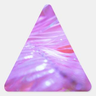 Pink decorations triangle sticker