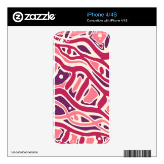 Pink decorative pattern skins for the iPhone 4S