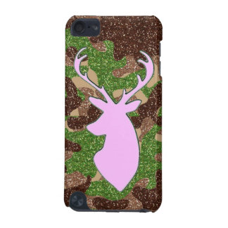 Pink deer and glitter camo iPod Touch 5G covers