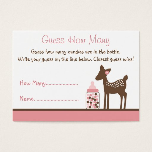 Pink Deer Guess How Many Cards
