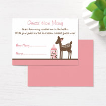 Pink Deer Guess How Many Game Business Card