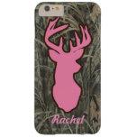 Pink Deer Head Camo iPhone 6 plus case