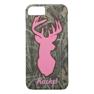 Pink Deer Head Camo iPhone 7 case