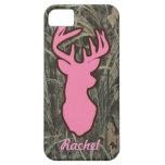 Pink Deer Head Camo iPhone case