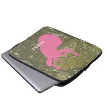 Pink Deer Head & Camouflage Electronics Bag